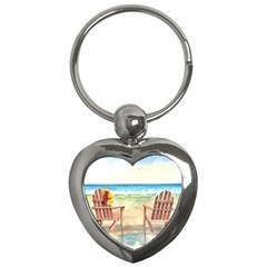 Time To Relax Key Chain (Heart)