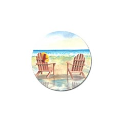Time To Relax Golf Ball Marker 4 Pack