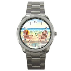 Time To Relax Sport Metal Watch