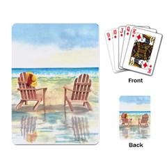 Time To Relax Playing Cards Single Design