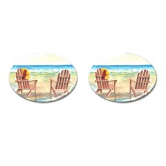 Time To Relax Cufflinks (Oval)