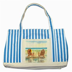 Time To Relax Blue Striped Tote Bag