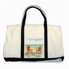 Time To Relax Two Toned Tote Bag