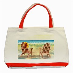 Time To Relax Classic Tote Bag (Red)