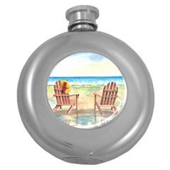 Time To Relax Hip Flask (Round)