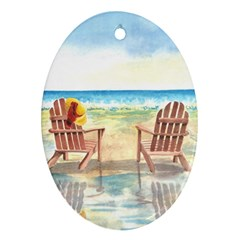 Time To Relax Oval Ornament (Two Sides)