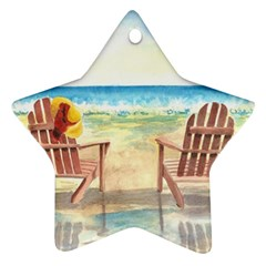 Time To Relax Star Ornament (Two Sides)