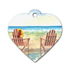Time To Relax Dog Tag Heart (two Sided)