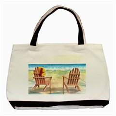 Time To Relax Twin-sided Black Tote Bag