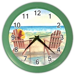 Time To Relax Wall Clock (Color)