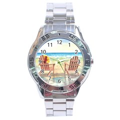 Time To Relax Stainless Steel Watch