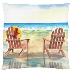 Time To Relax Large Cushion Case (two Sided)
