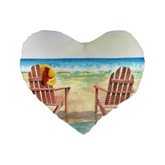 Time To Relax 16  Premium Heart Shape Cushion