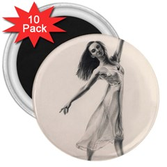 Perfect Grace 3  Button Magnet (10 Pack)