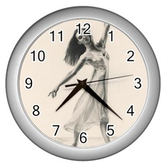 Perfect Grace Wall Clock (Silver)