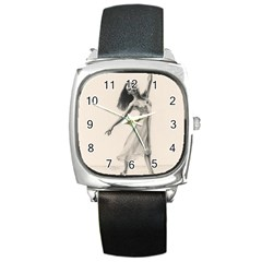 Perfect Grace Square Leather Watch