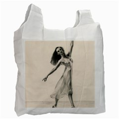 Perfect Grace White Reusable Bag (two Sides)