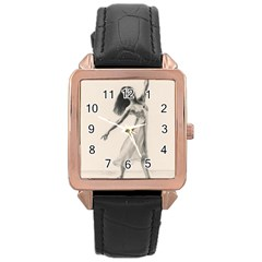 Perfect Grace Rose Gold Leather Watch
