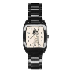 Perfect Grace Stainless Steel Barrel Watch