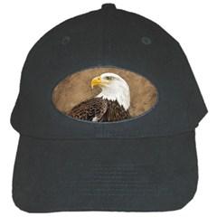 Eagle Black Baseball Cap