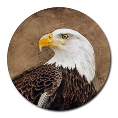 Eagle 8  Mouse Pad (round)