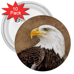 Eagle 3  Button (10 pack)