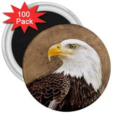 Eagle 3  Button Magnet (100 Pack)