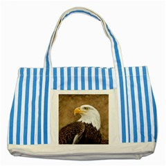 Eagle Blue Striped Tote Bag