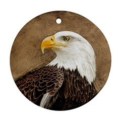 Eagle Round Ornament (Two Sides)