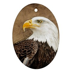Eagle Oval Ornament (Two Sides)