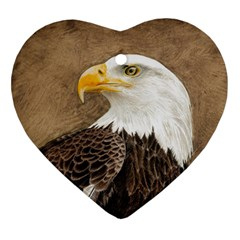 Eagle Heart Ornament (Two Sides)