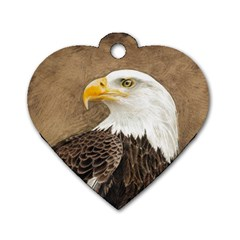 Eagle Dog Tag Heart (Two Sided)