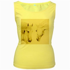 Tender Approach  Women s Tank Top (Yellow)