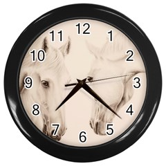 Tender Approach  Wall Clock (Black)