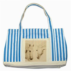 Tender Approach  Blue Striped Tote Bag