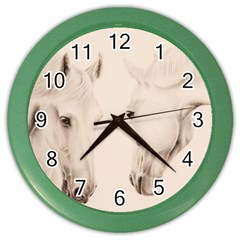 Tender Approach  Wall Clock (Color)