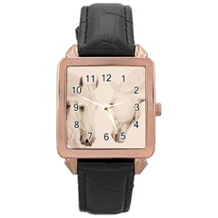 Tender Approach  Rose Gold Leather Watch