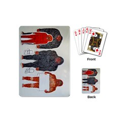 1 Neanderthal & 3 Big Foot,on White, Playing Cards (mini)