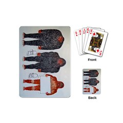3 Bigfoot, H, A, S, On White, Playing Cards (Mini)