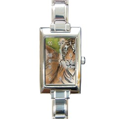 Soft Protection Rectangular Italian Charm Watch