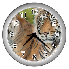 Soft Protection Wall Clock (Silver)