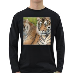 Soft Protection Men s Long Sleeve T-shirt (Dark Colored)
