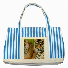 Soft Protection Blue Striped Tote Bag