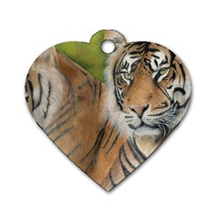 Soft Protection Dog Tag Heart (One Sided)