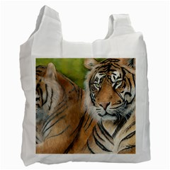 Soft Protection White Reusable Bag (One Side)