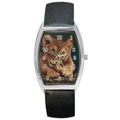 Playful  Tonneau Leather Watch