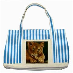 Playful  Blue Striped Tote Bag