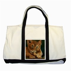 Playful  Two Toned Tote Bag