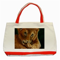 Playful  Classic Tote Bag (Red)