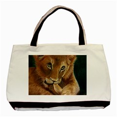 Playful  Twin-sided Black Tote Bag